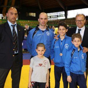 da sinistra- Massimo, Roberto e Francesco Stopponi, Riccardo e Alessandro Glave, Mauro Bombolo Coradeschi